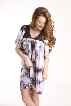 Women's Dress-Crystal Washed Dress