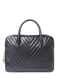 c9a51e686c55 Navy Lambskin Chevron Tote by Chanel at Gilt Chevron, Navy, Chanel,  Handbags,