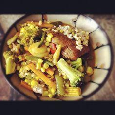 Curry mustard veggies!