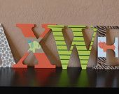 Wildlife Nursery Wall Letters