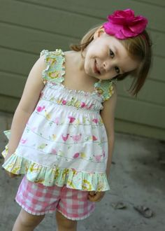 Ruffled tank for little girl - tutorial