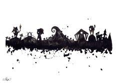 Digital Download: Disney Tim Burton Style Halloween by CoconuTacha