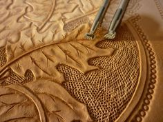 How to make a leather bracer with texture and dies