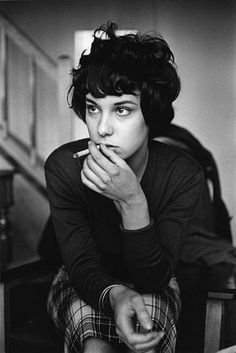 """Bernadette Lafont (French part of the """"Nouvelle Vague"""" in the 60's from her films with François Truffaut and Claude Chabrol. actress  , 1959,  by Jeanloup Sieff"""