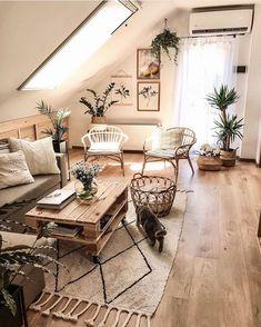 Boho Living Room, Home And Living, Living Room Decor, Cozy Living Rooms, Living Room Inspiration, Home Decor Inspiration, Decor Ideas, Room Ideas, Interior Design Living Room