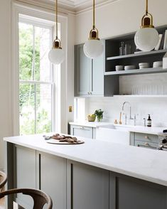 Galley Kitchen Remodel Ideas - A galley kitchen is a household kitchen design which consists of two parallel runs of units. Home Decor Kitchen, Rustic Kitchen, Kitchen Interior, New Kitchen, Home Kitchens, Kitchen Dining, Kitchen Ideas, Dream Kitchens, Modern Townhouse Interior