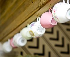 Hanging teacups