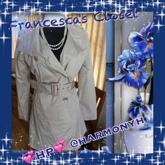 PERFECT FOR SPRING HOST PICK  Fully lined, never worn. (Ungrateful ex boyfriends daughter! She was ready to donate it!) 100% Cotten, fully lined, 2 front pockets and inside pocket. From Francesca's Collection. Very few made as us true with her store. HOST PICK TOTAL TRENDSETTERS BY @janicegw 3.28.15 @harmonyh Back to Basics Francesca's Collections Jackets & Coats