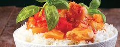 Κοτόπουλο με μάνγκο Chutney και ρύζι
