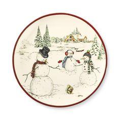 Snowman Dinner Plates, Set of 4