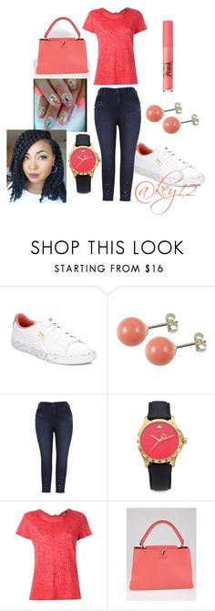 """""""dark coral"""" by key12 ❤ liked on Polyvore featuring Puma, Melissa McCarthy Seven7, Gucci, Proenza Schouler and Louis Vuitton"""