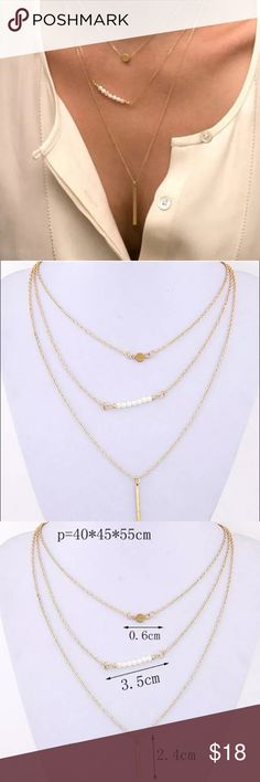 Layer necklace NWOT gold layer necklace Jewelry Necklaces