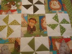 Because I say sew ;) : Jungle Baby Quilt Top