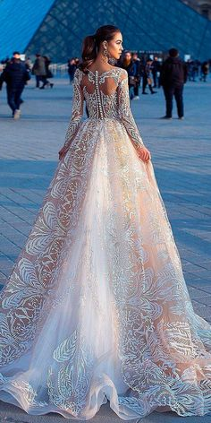 36 Gorgeous A Line Wedding Dresses ❤ a line wedding dresses blush original backless lace long sleeves lorenzo rossi ❤ See more: http://www.weddingforward.com/a-line-wedding-dresses/ #weddingforward #wedding #bride