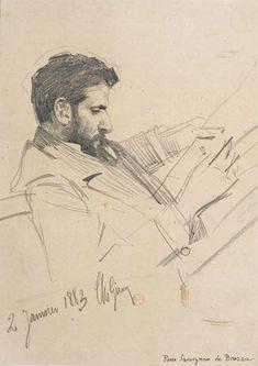 Pierre Savorgnan de Brazza by Charles Giron, 2 January, 1883