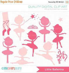 50% OFF SALE Digital Stamps Ballerina by MyClipArtStore on Etsy