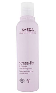 Aveda Stress Fix body lotion has a soothing lavender scent. Received as a baby shower gift, love it!
