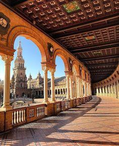 Plaza de España in Seville, Andalucía, Spain