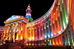Christmas lights Denver City & County Building by Chad Galloway Photo, via Flickr