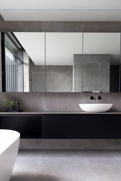 Fendalton House V Bathroom Mirror Design, Washroom Design, Rustic Bathroom Shelves, Bathroom Mirror Cabinet, Toilet Design, Bathroom Design Luxury, Mirror Cabinets, Small Bathroom, Master Bathroom