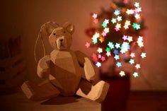 Xmas, cute, bear, stars