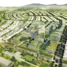 Architects Skidmore, Owings & Merrill have produced these images to illustrate their masterplan for a 375 hectare site in Danang, Vietnam, that is prone to frequent flooding