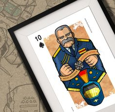 Miles Mayhem M.A.S.K Playing Card Print A4 by BeastBoxDesigns