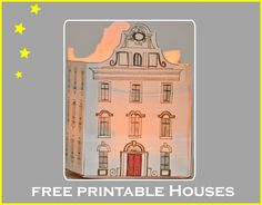 free printable DIY paper houses ♥ – free lantern houses, gingerbread houses, box houses, ornament houses