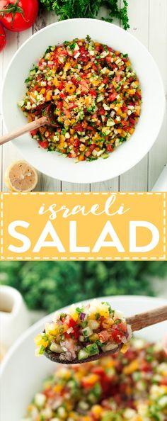 Israeli Salad Recipe | http://asimplepantry.com