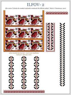 Folk Embroidery, Embroidery Patterns, Cross Stitch Patterns, Hama Beads, Beading Patterns, Pixel Art, Folk Art, Traditional, Romania