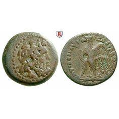 Ägypten, Königreich der Ptolemäer, Ptolemaios II., Bronze 285-246 v.Chr., ss+: Ptolemaios II. 285-246 v.Chr. Bronze 17 mm 285-246… #coins