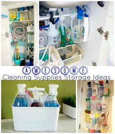 Awesome Cleaning Supplies Storage Ideas @Tausha Houck Hoyt {Sassy Style Redesign}