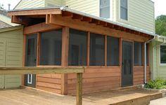 Screened Porch - modern - exterior - dallas - by Modern Craft Construction, LLC Screened In Porch Diy, Screened Porch Designs, Cabin Porches, Enclosed Porches, Gazebo, Patio Plans, Patio Enclosures, Backyard Pavilion, Backyard Pool Designs