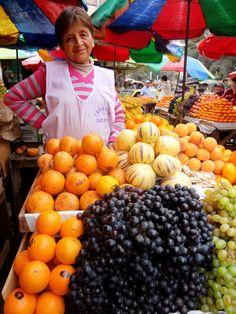 Fruit Vendor in Mercado Modelo, Chiclayo, Peru