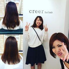 """""""本日のお客様 夏の紫外線や海で毛先にダメージを受けてしまったので毛先を5cmカットさせていただきました!  カット前とカット後ではかなりの変化があり、喜んでいただけてよかったです。 今度はパーマかけましょうね。 本日はご来店ありがとうございました。 #美容室 #creer_for_hair#鹿児島市#鴨池"""" Photo taken by @creer_for_hair on Instagram, pinned via the InstaPin iOS App! http://www.instapinapp.com (10/14/2015)"""