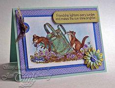 Greeting Card  Friendship Lightens Every Burden Hand by JanTink, $5.95