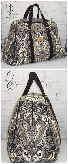 Vivian bag sewing pattern. Available in two sizes, purse and traveller. Classy style. Photos by Micheline Trottier More