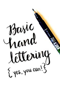 // This tutorial for how to do basic hand lettering is so simple. And the results are AMAZING. //