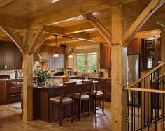 Post and Beam Kitchens Kitchen Layout Ideas