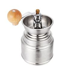 DeFancy Hand Crank Coffee Mill Ceramic Burr Stainless Steel Adjustable Manual Coffee Grinder ** Click image for more details.