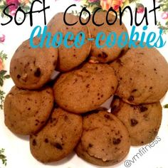 Ripped Recipes - Soft Coconut Choco-Cookies - Very soft coconut flour chocolate chip cookies!