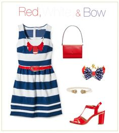 Red, White, and Bow ft. @KJPBrand, Target, and Charming Charlie!
