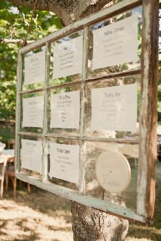 Seating assignments. Photo is from my actual badass venue's prior weddings!