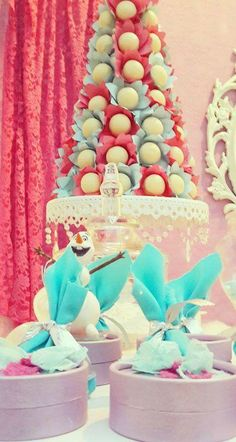 Frozen Birthday Party Ideas!  See more party planning ideas at CatchMyParty.com!