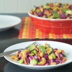 cashew edamame cabbage crunch salad