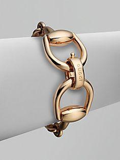 Gucci - 18K Pink Gold Horsebit Bracelet