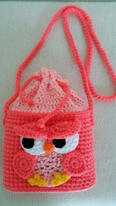 Owl Handmade crochet bag  Birthday gift Christmas by Solutions2511 / FINISHED PRODUCT for sale / cute little critter!