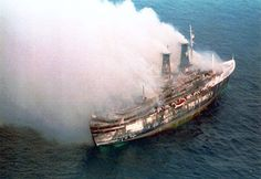 Achille Lauro sank off Somalia on Nov. 30, 1994 (Four terrorists from the Palestinian Liberation Front commandeered this Italian ill-fated cruise ship on Oct. 7, 1985)