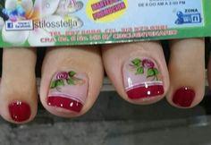 Pretty Toes, Rose, Nails, Beauty, Toenails, Nail Hacks, Fairy, Work Nails, Templates