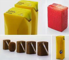 Product packaging should sell the item through design. Here are some beautiful examples of creative product packaging from the Creative Bloq. Clever Packaging, Innovative Packaging, Fruit Packaging, Food Packaging Design, Packaging Design Inspiration, Brand Packaging, Product Packaging, Packaging Ideas, Beverage Packaging